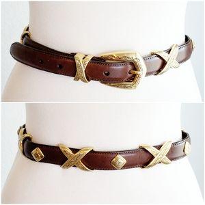 Brighton Leather Belt Boho Southwest Western S